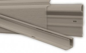 Home Vinyl - Mobile Home Vinyl Skirting Pebblestone (Clay) Upper & Lower Underpinning Track Trim Kit (58 Feet)