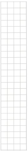 KC Store Fixtures A04238 Gridwall Panel, 1' W x 6' H, White (Pack of 4) by KCF