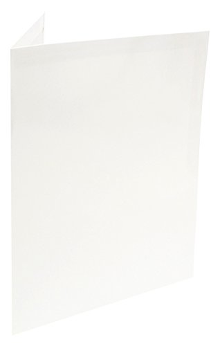 Four Point ELPF14010 - 8.5'' x11'' Film Laminated Pocket Folders, Versatile and Reusable, White Clr, Heavy Weight, 2 pockets & Business Card Slits, 200 Per Pack, Made in USA
