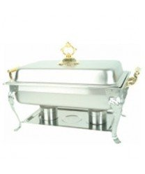8 Quart Chafer (TigerChef TC-20212 Brass Handle Deluxe Chafer, 8 quarts, 8533)