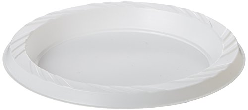 "Genuine Joe GJO10327 6"" White Plastic Plates, Reusable/Disposable, For Hot or Cold Food"