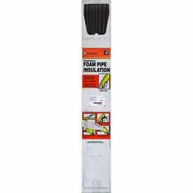 Thermwell P12XB-6 6 ft. Black Tubular Polyethylene Foam Pipe Insulation, Pack of 40