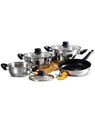 Tramontina Primaware 80117/585DS Stainless Steel Induction-Ready Tri-Ply Base 7-Piece Cookware Set
