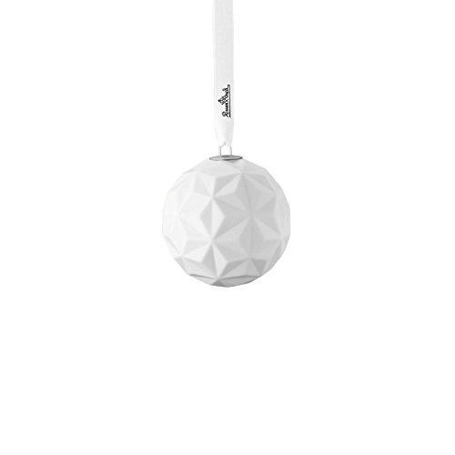 Price comparison product image Rosenthal Porcelain Ball Snowball Motive 3, white mat, 9 cm