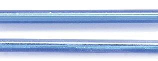 Preciosa Ornela Czech Straight Bugle Glass Bead, 30mm, Silver Lined, Sapphire, 80 gm/Pack