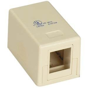 InstallerParts 1Port RJ45 Surface Mount Box Ivory (Box only)