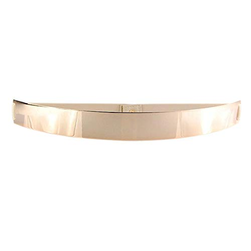 VOCHIC Womens Metal Mirror Elastic Stretch Gold Waist Belt Metallic Waistband Plate Wide ()