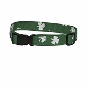 Dark Green Bold Shamrocks Dog and Cat Collar