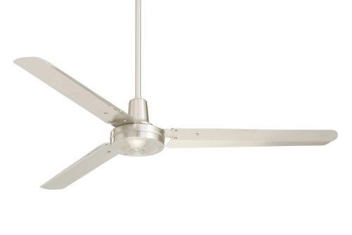 Emerson Ceiling Fans HF956BS Industrial Ceiling Fan, Indoor Ceiling Fan with 56-Inch Blade Span, Brushed Steel Finish, Brushed Steel Blades 10' Metal Fan