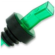 WIDGETCO Green Plastic Pour Spouts w/Bug Screen & Grip Collar