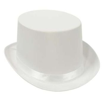 Beistle Satin Sleek White Top Hat by Beistle