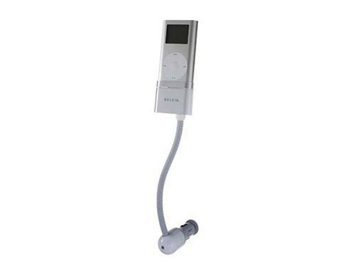 Belkin TuneBase for iPod Mini - Digital Player Connection Cradle for car - White, Silver
