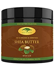 (16 oz) Raw Shea Butter with RECIPE EBOOK - Perfect for All Your DIY Home Recipes Like Soap Making, Lotion, Shampoo, Lip Balm...