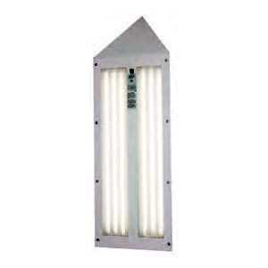 GFS Corner T8 Paint Booth Light Fixture, 6 Tube