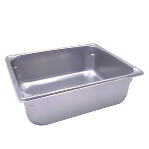Vollrath 30242 Stainless Steel Super Pan V Steam Table Pan, 1/2 Size, ()