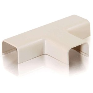 C2G/Cables to Go 13374 Tyton Raceway Tee Cover, Ivory (1.75 Inch) (Raceway Tee Cover)