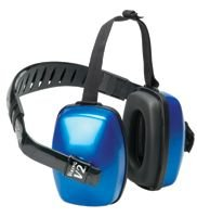 Three Position, 27 Max NRR, Black and Blue - Earmuff Three Position