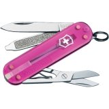 Victorinox Swiss Army Classic SD Pocket Knife, Translucent Pink, Outdoor Stuffs