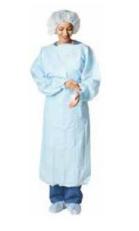 Precept 8572 Impervious Gown, Polyethylene Film, Universal, Blue (Pack of 15)