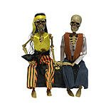 Totally Ghoul Animated Hippie Couple Halloween Decoration