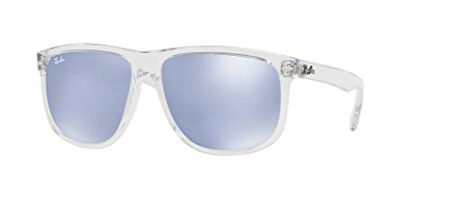Ray-Ban RB4147 63251U 60M Transparent/Blue Silver Flash Sunglasses For Men For ()