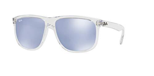 Ray Silver ban Flash Rb4147 Transparent Sunglasses blue qqrdXx