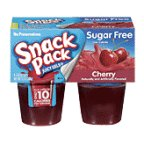 Snack Pack Sugar Free Gelatin Cherry Pudding, 13 Ounce -- 12 per case.