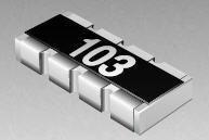 100 pieces Resistor Networks /& Arrays 100ohm 1/% Concave 4resistors