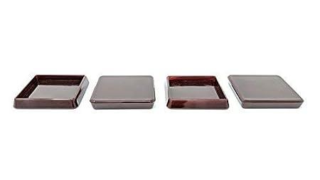 Protecciones cuadradas para patas de muebles de poliestireno resistentes a los golpes transparente