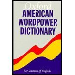 Oxford American Wordpower Dictionary : For Learners of English, Urbom, Ruth, 0194315029
