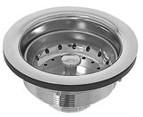 Dearborn Brass Lucky 7 Brass Body Stainless Steel Basket Strainer Polished Chrome