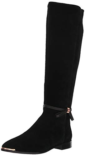Ted Baker Women s LYKLA Over The Over The Knee Boot, Black Suede, 8 Medium US