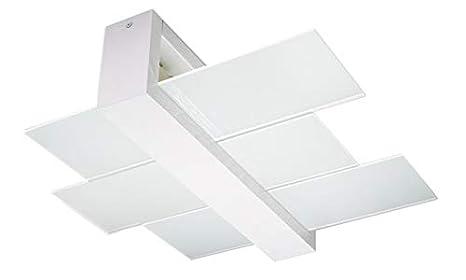 Plafoniere Per Laboratorio : Sollux lighting feniks 2 plafoniera in legno colore: bianco