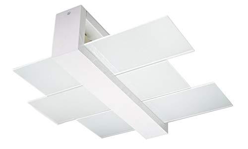 Plafoniere Con Base In Legno : Sollux lighting feniks plafoniera in legno colore bianco