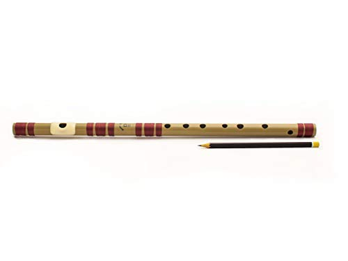 Radhe Flutes PVC Fiber D Natural Bansuri Middle Octave Right Handed product image