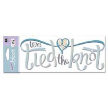 A Touch Of Jolee's I Do Wedding Title Waves 3-D Stickers: We Tied The Knot