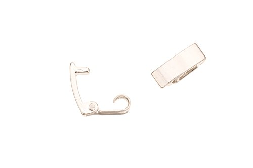 Bracelet Buckle/Watch Clasp Fold-Oval Buckle Silver Plated Copper, 10X3.5mm sold per 10pcs