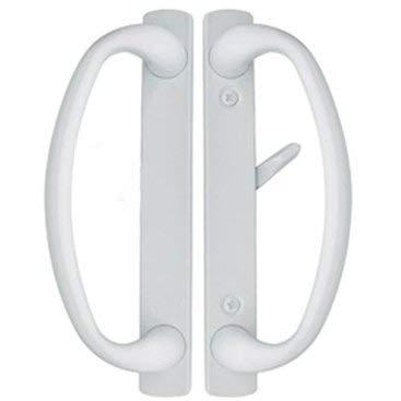 - Charlotte Sliding Glass Door Handle in White Finish Fits 3-15/16