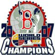 Boston Red Sox 2007 World Series Champions Globe Pin
