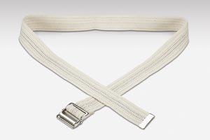 Val Med Medical VM-6672 Comfort Plus Transfer Belt, Natural Cotton, Navy Pinstripe, White, 72'' Length (Pack of 36)