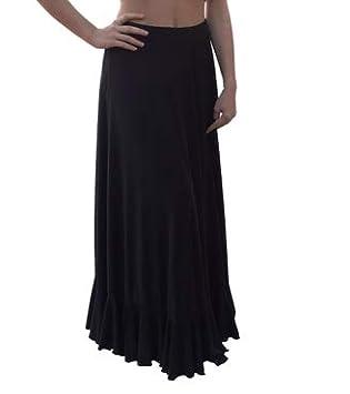 Menkes Falda Baile Flamenco Viscosa de Peso Niña: Amazon.es ...