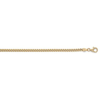 "Or jaune 18 ct solide Bracelet Gourmette 3,4 mm - 8 ""- JewelryWeb"