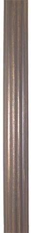 Reeded Wood (Seymour Antique Bronze 4' Reeded Wood Pole -1 3/8