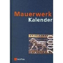 Mauerwerk-Kalender 2000 (Mauerwerk-Kalender (VCH) *) (German Edition)