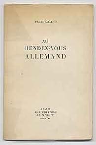 Au Rendez-vous allemand par Paul Éluard