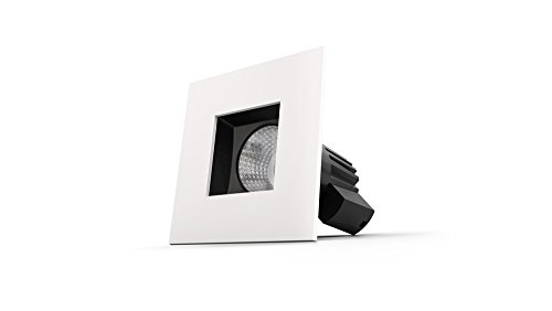 Smartika Edge LED Smart Recessed Light, Ceiling 4'', Square Cover Plate, Works with Alexa by Smartika