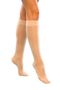 SIGVARIS Women's Sheer Fashion 120 Closed Toe Calf Compression Hose 15-20mmHg