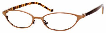 Valerie Spencer 9107 in Bronze Designer Reading Glass Frames , Demo Lens