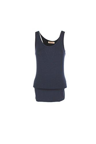 VICOLO T-Shirt Donna Blu Up0233 Primavera Estate 2017