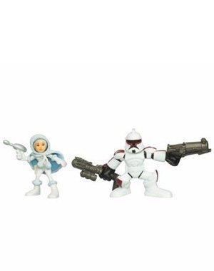 Star Wars: Galactic Heroes 2010 Padme & Senate Security Clone Trooper Action Figure (Galactic Heroes Game)